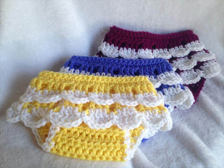 ruffle crochet diaper covers