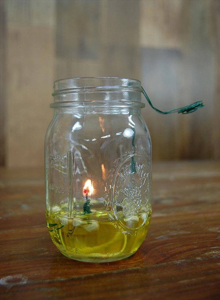 Mason Jar Oil Lamp