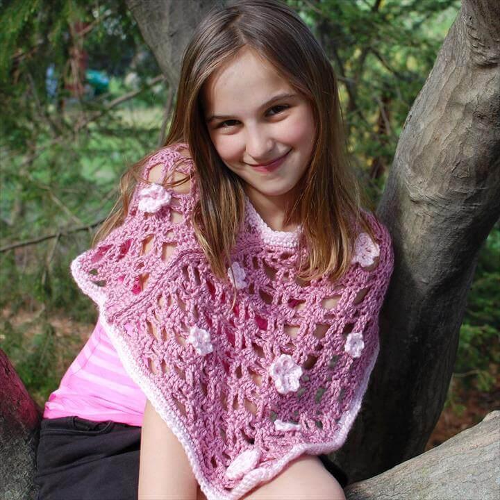 crochet spring poncho