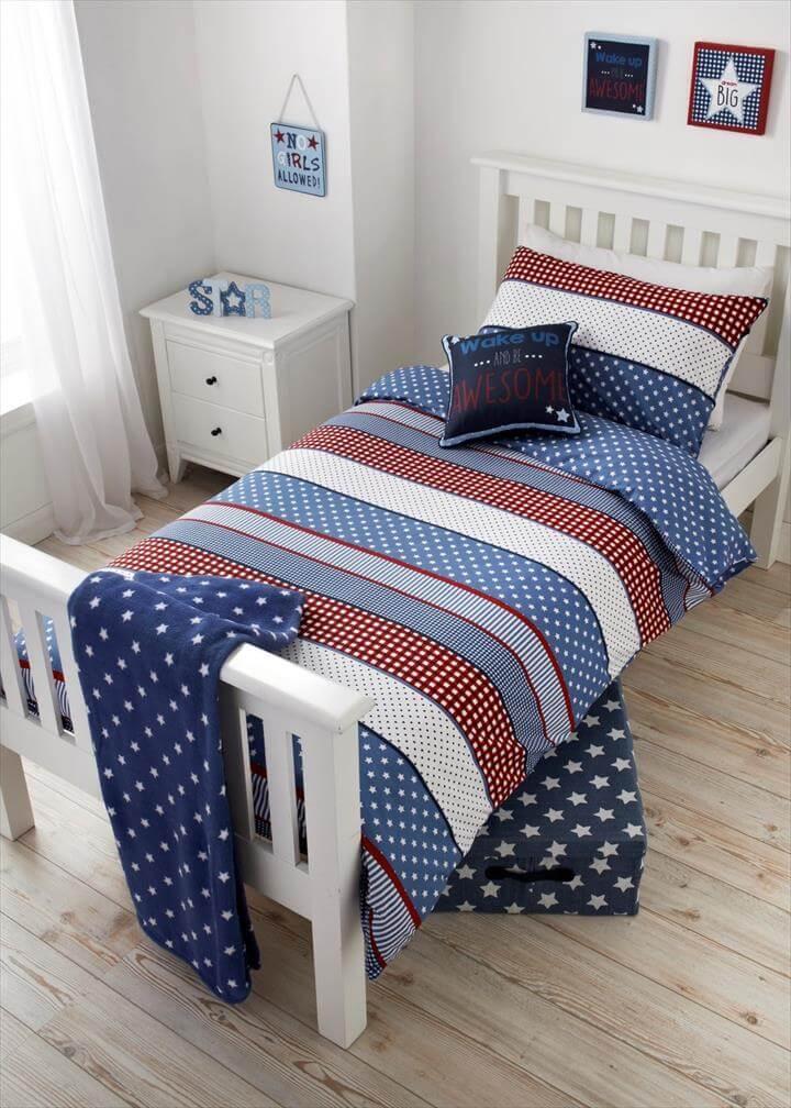 Stripe Patchwork Single Duvet Set