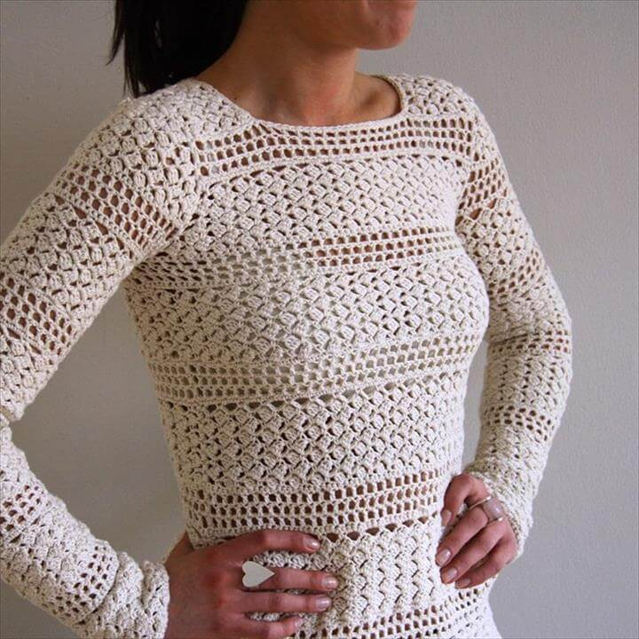tanjas crochet sweater