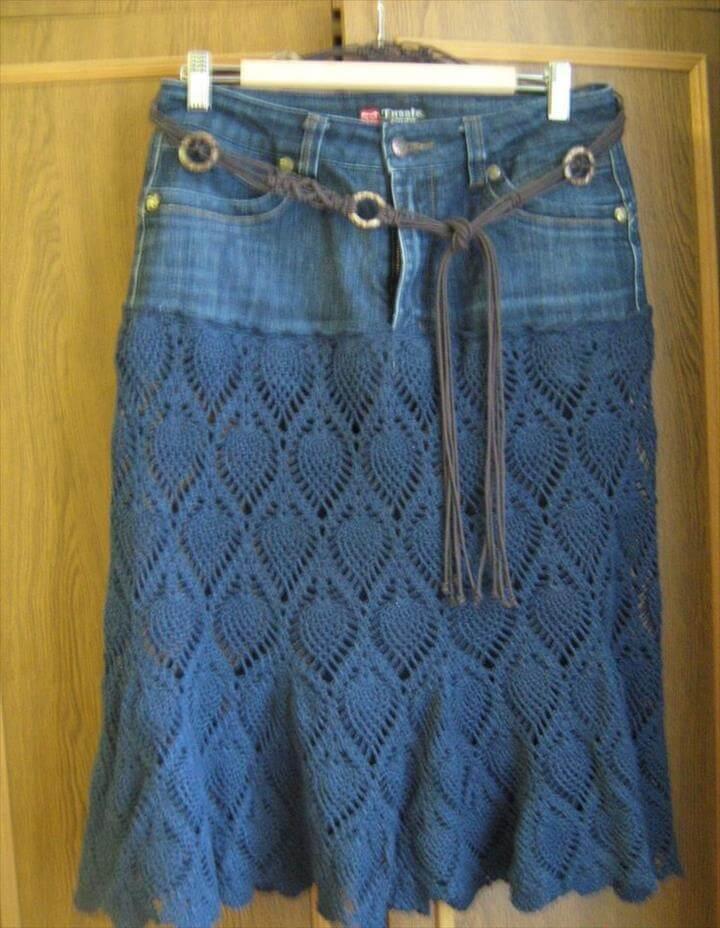 crochet pineapple lace skirt