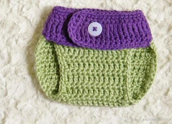 new Ninja Turtles Donatello Crochet Baby Hat & Diaper Cover