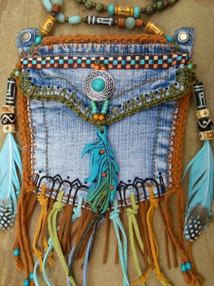 upcycled jean pocket