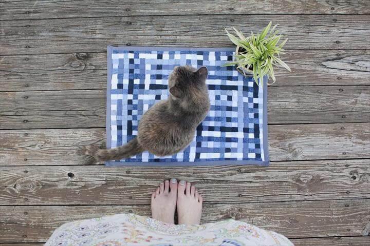 Woven Denim Rug or Trivet DIY