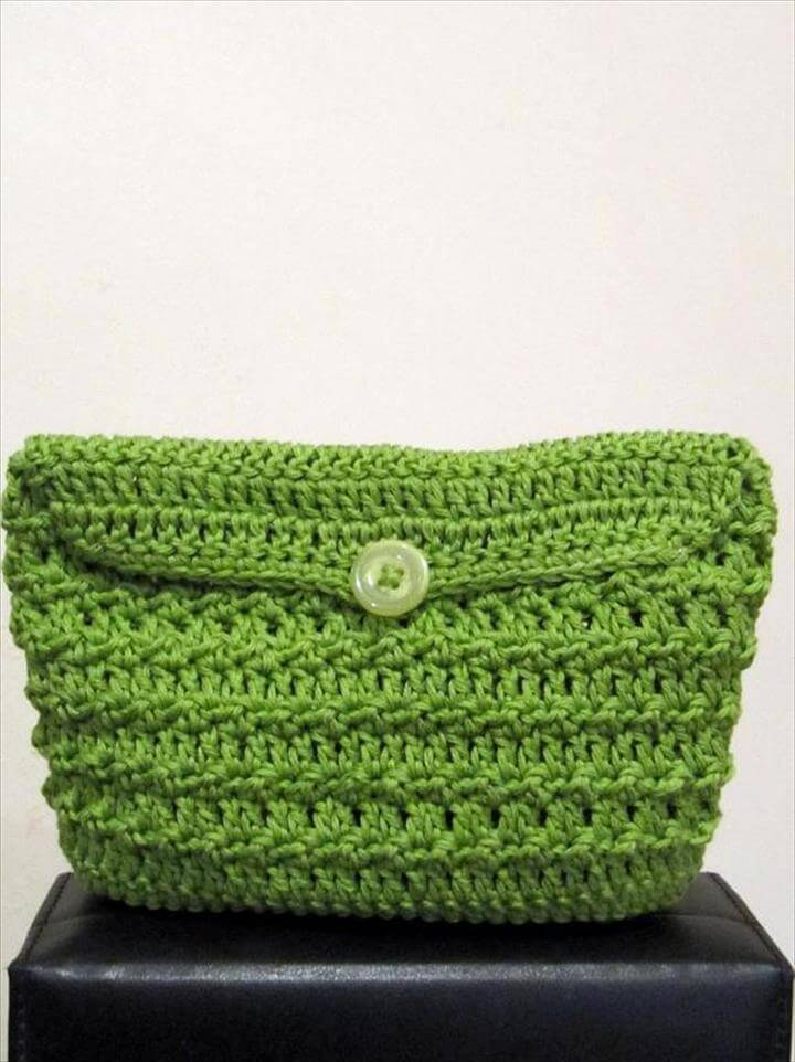 Crochet Purse Patterns, Green Crochet bag