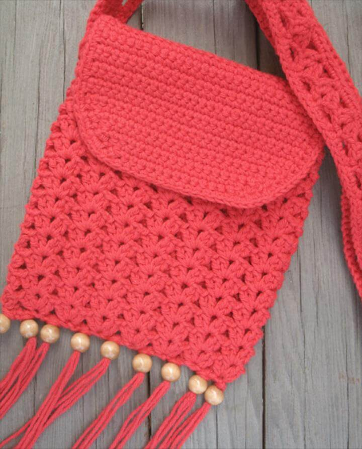 Crochet Purse with Fringe