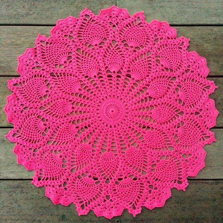 Free Crochet Pattern Easy Doily : 42 Quick & Easy Crochet Doily Pattern DIY to Make