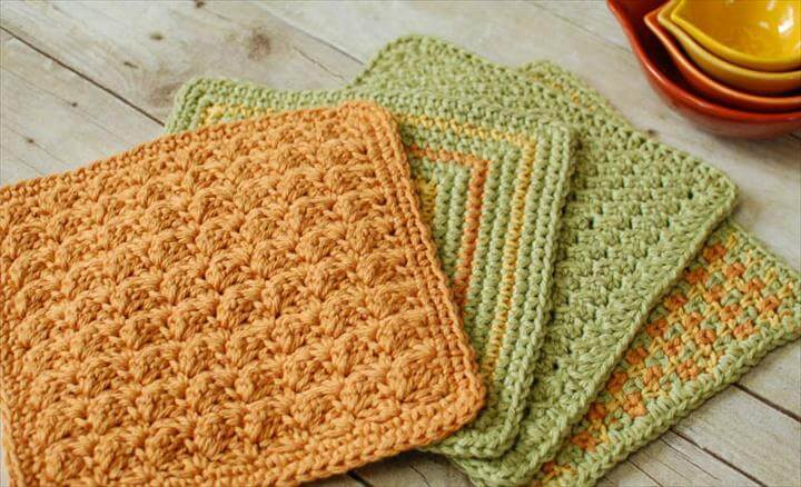 dishcloth from crochet