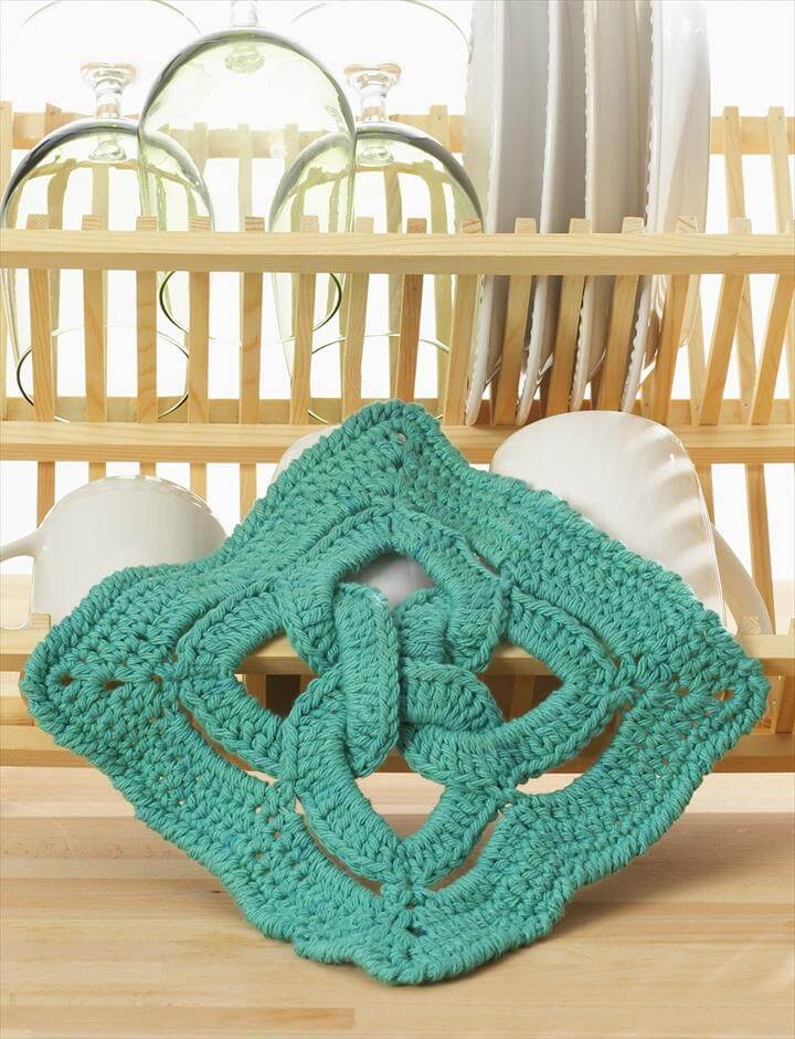 Celtic Knot dishcloth