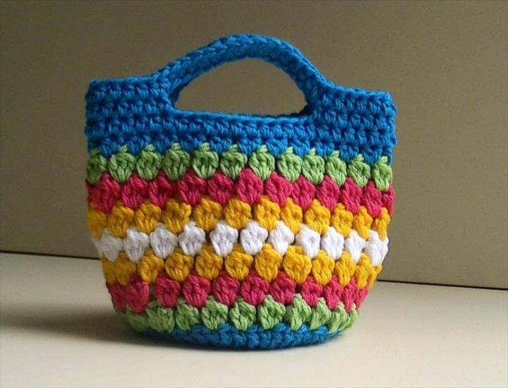 Cluster Stitch Bag Crochet Tutorial