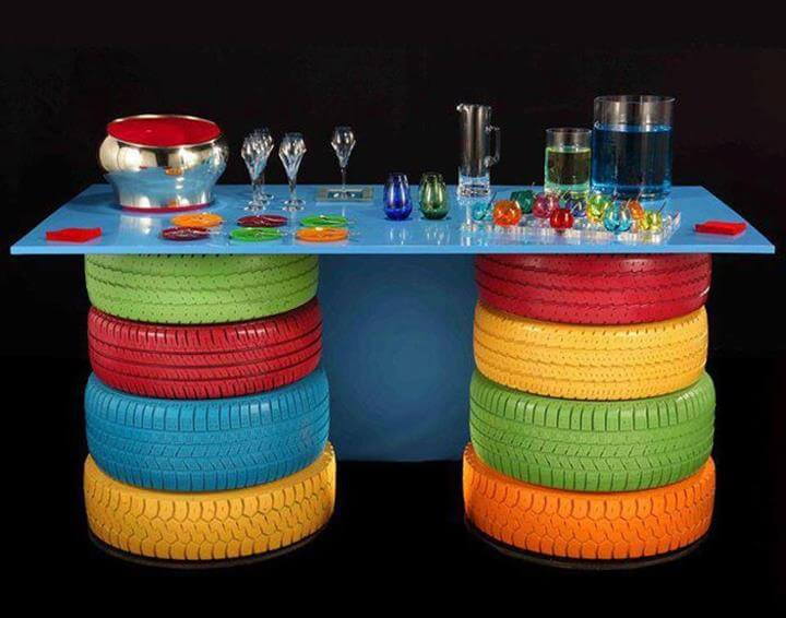 Recycled Tires Table Source
