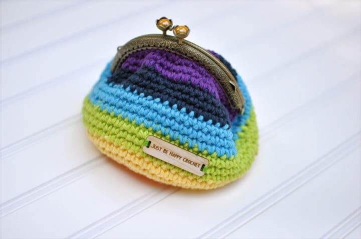 Crochet Coin Purse with Flower