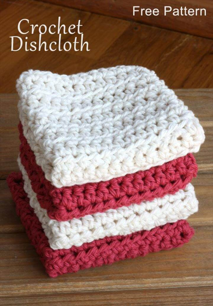 two colord dishcloth