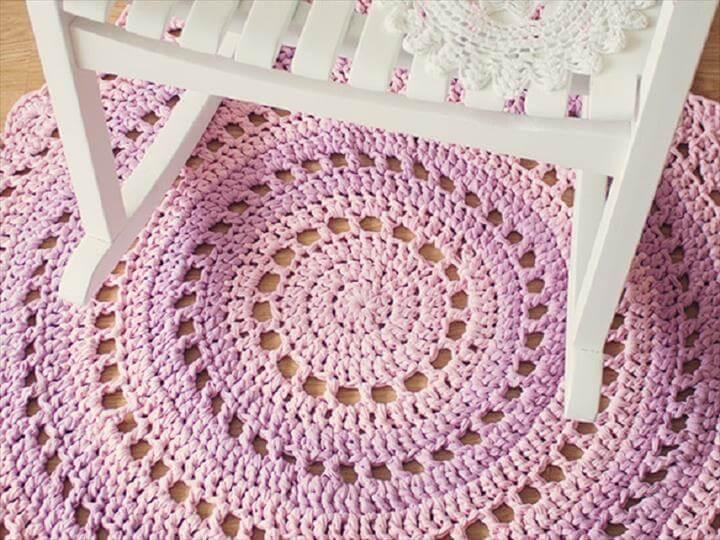 Crochet Doily Rug Pattern