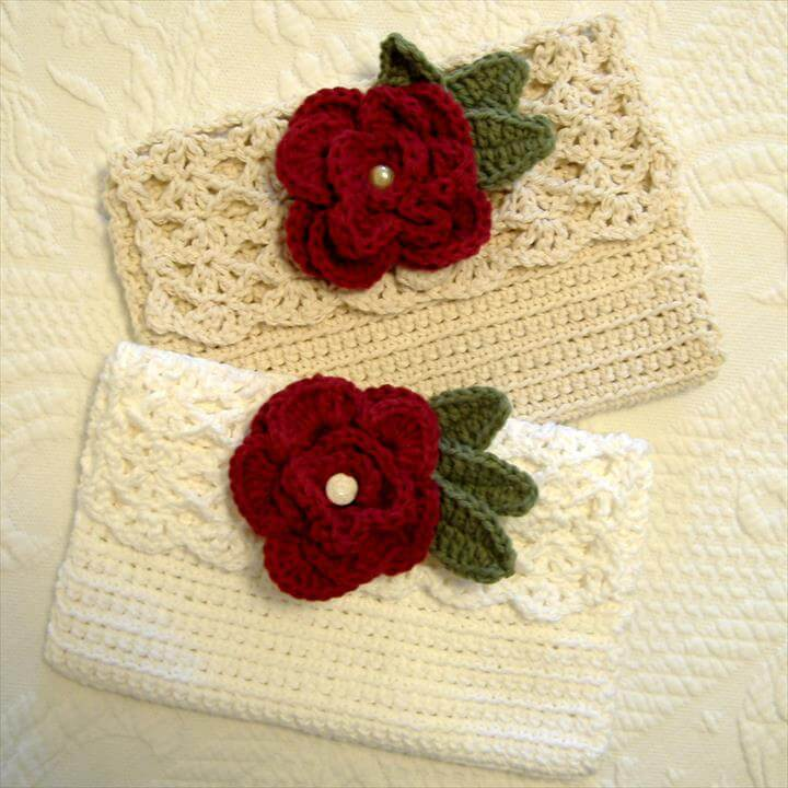 Crochet Envelope Purse - Christmas Crafts, Free Knitting Patterns