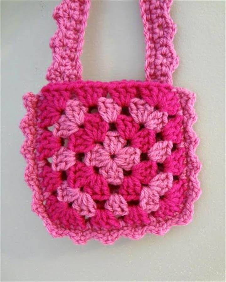 Easy Crochet Small Purse Patterns For Beginners : 42 Fabulous Handmade Crochet Bag & Purses DIY to Make