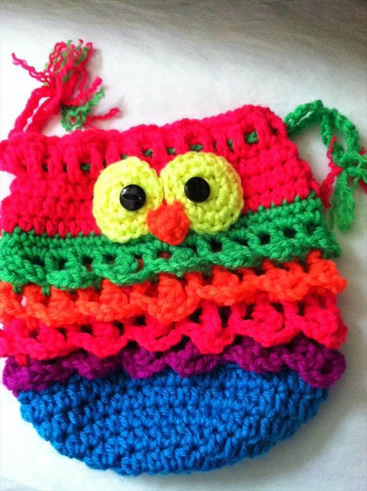 Crochet Owl Purse! Pattern