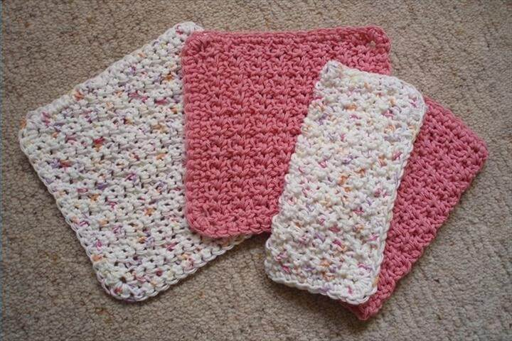 Free Crocheted Dishcloth Patterns