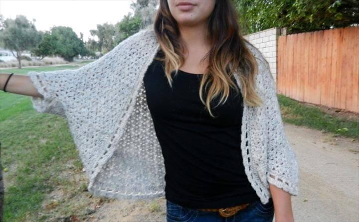 Easy Shrug Crocheting Pattern