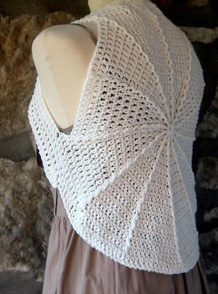 Crochet Shrug, Crochet Pattern of Circular Shrug
