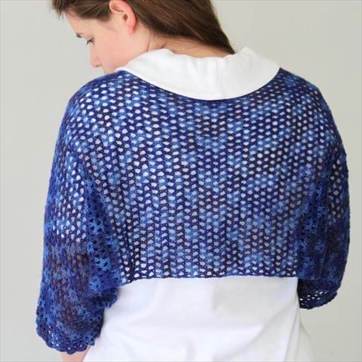 Crochet Starlight Shoulderette or Shrug.