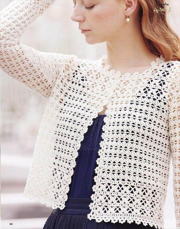 Free Crochet Pattern Simple Shrug : 20 Easy Beginner Shrug Pattern DIY to Make