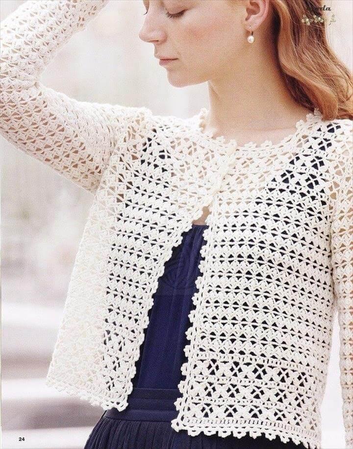 ed35bd9b16c8e8 Crochet Vest Style Shrug Free Tutorial