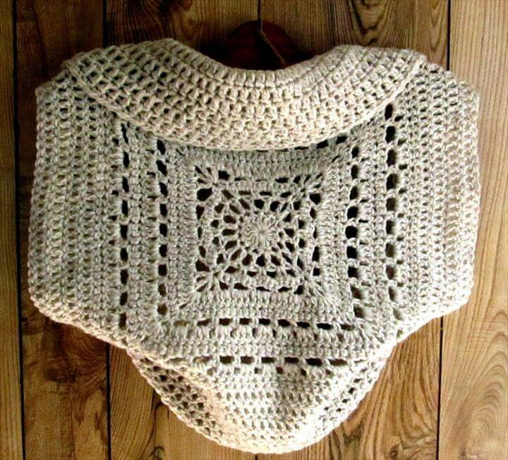 Comfy Crochet Pattern of Shrug