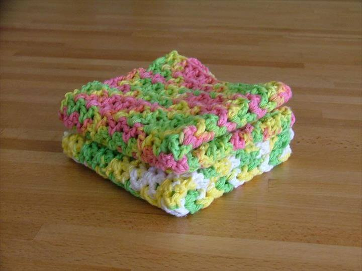 Crocheted Dishcloth Pattern ...