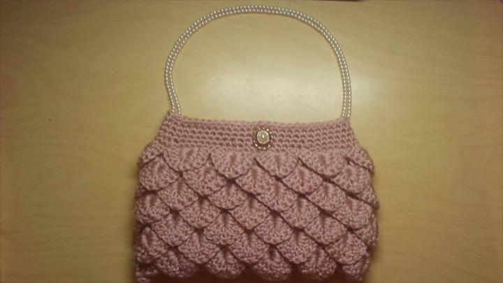 Crochet crocodile stitch clutch purse Tutorial