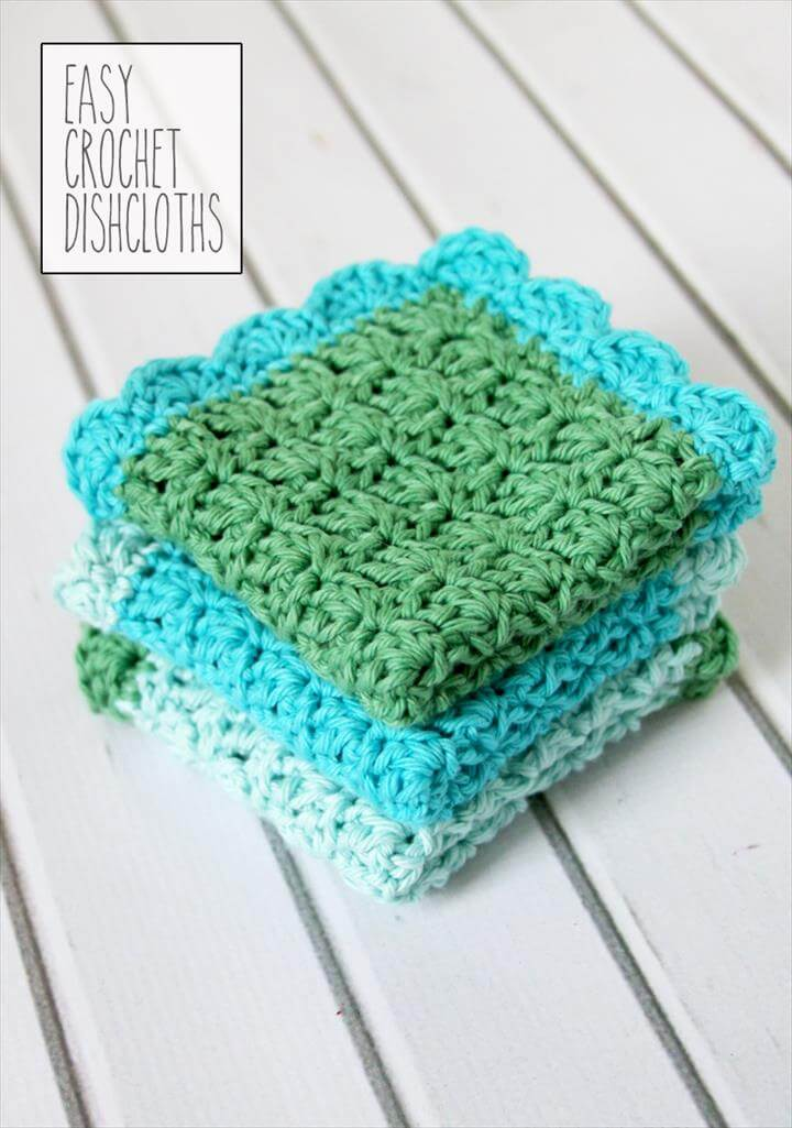 Crochet Dishcloth Patterns, Easy Crochet Dish Cloth Pattern