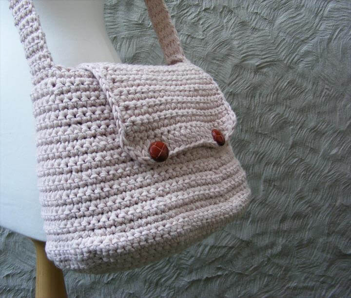Easy Crochet Messenger Bag Pattern