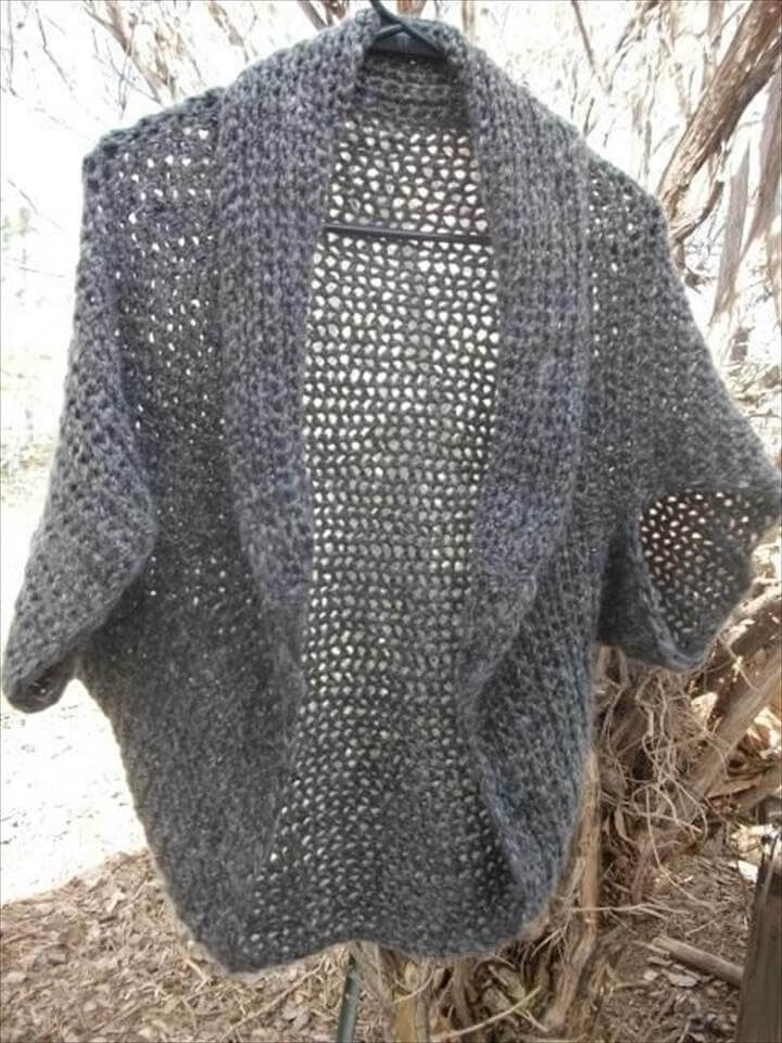 Fast and Easy Crochet Shrug