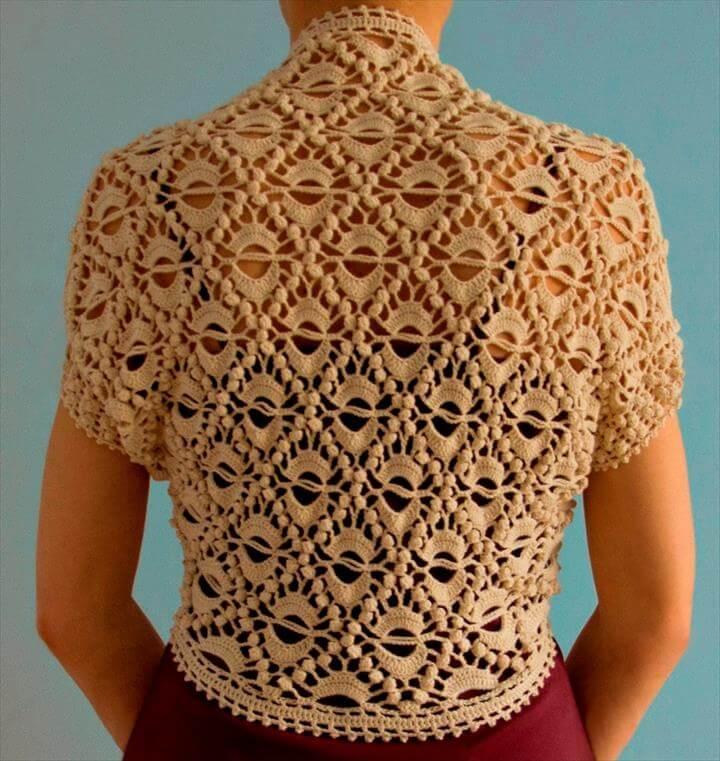 Crocheted Shrug for Fashionistas