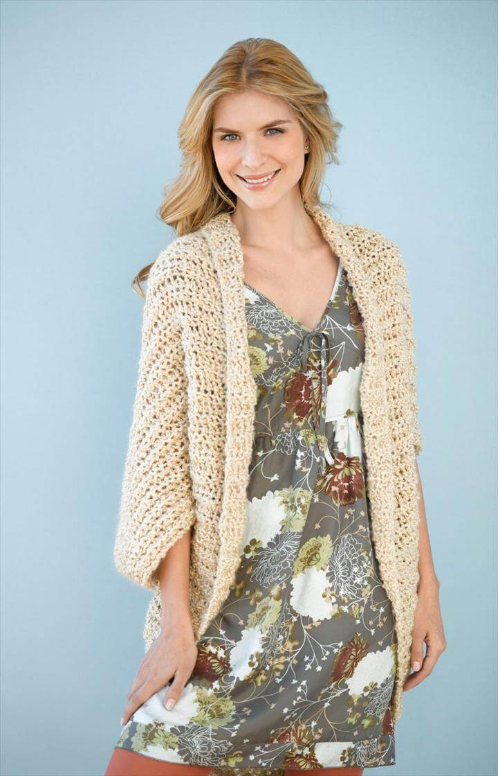 simple crochet shrug