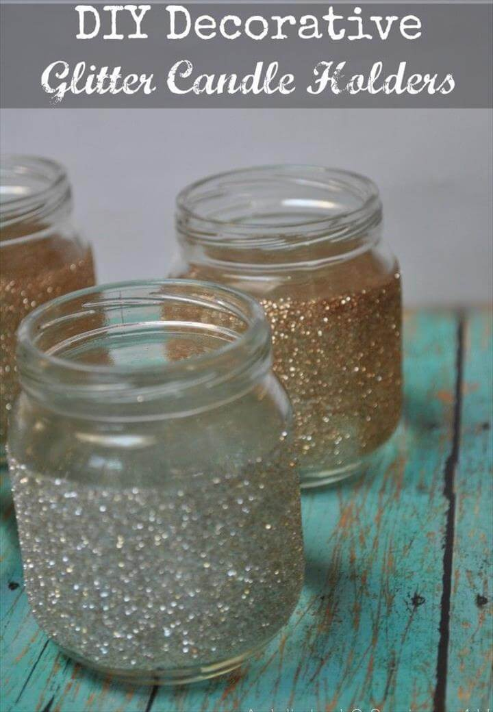 35 Diy Glitter Mason Jar Tutorial Diy To Make