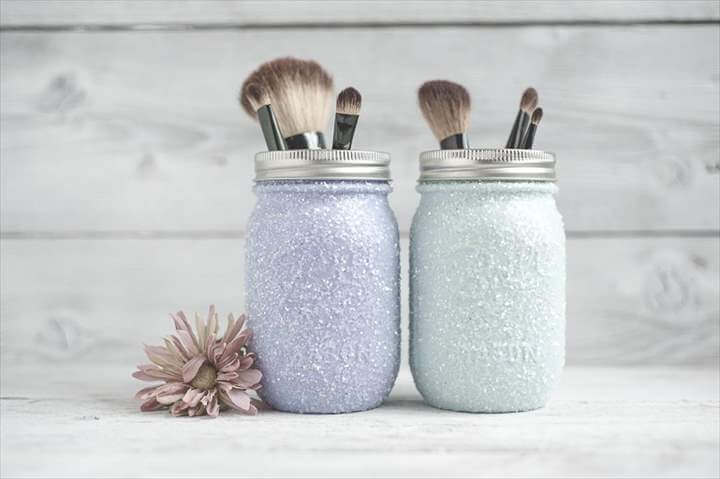 DIY Glitter Mason Jar Tutorial - Creative Services: Design, Photography & Mason Jar Decor