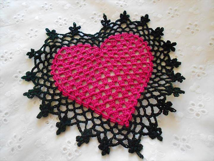 Free Crochet Pattern For Heart Doily : 42 Quick & Easy Crochet Doily Pattern DIY to Make