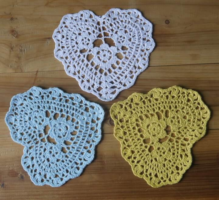 Free Shipping Valentine's Day gift Crochet Doily