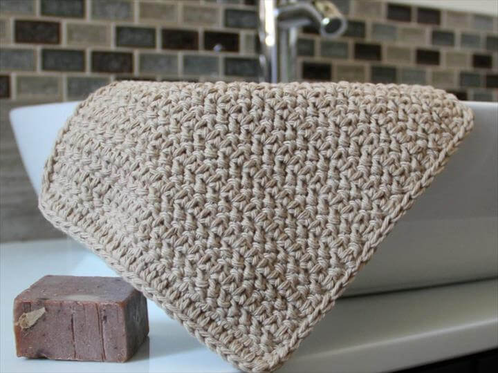 Beginners Single Crochet Dishcloth