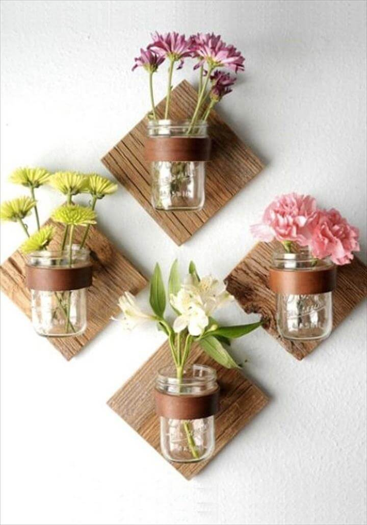 mason jar crafts will brighten your home this spring.