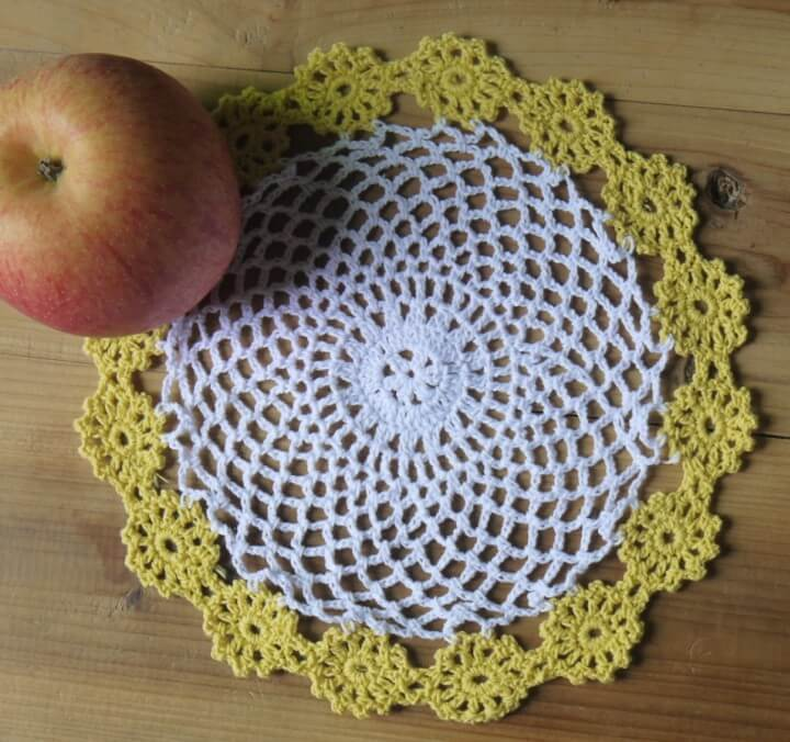Lace handmade crochet Pattern Doily cup mat cotton cup coaster placemat