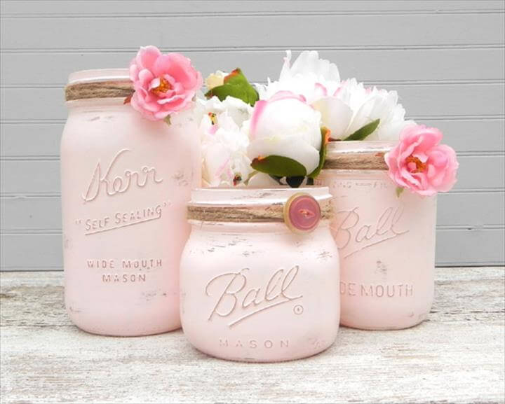 DIY Mason Jar Flower Vases, DIY Mason Jar Crafts