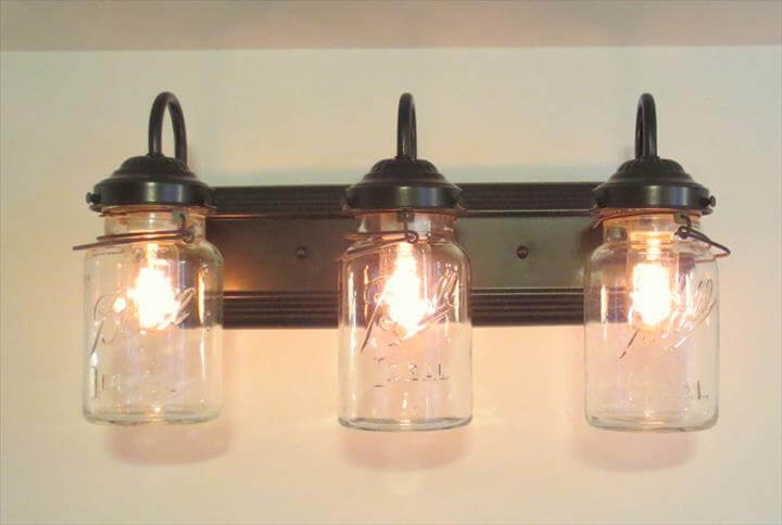 lights from old mason jars