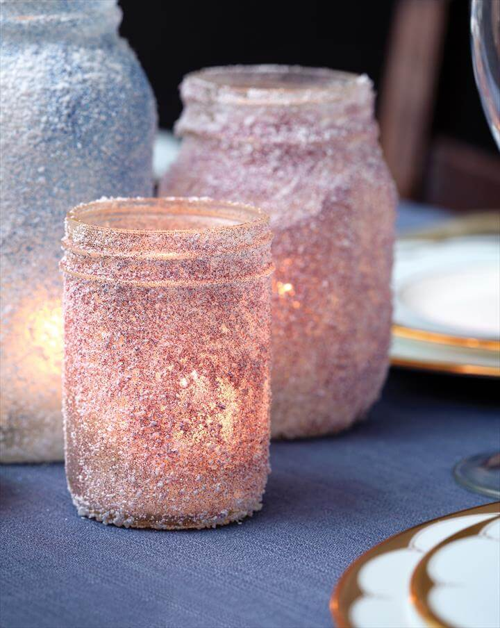 DIY candle holders: How to make sparkly votives