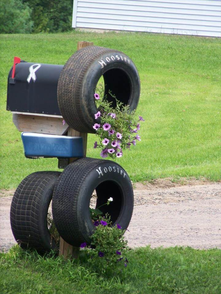 garden ideas to the yourself making old car tyre recycling