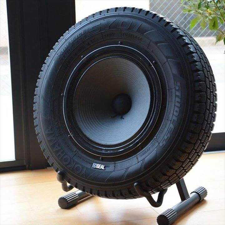 used auto tires of round bass loudspeakers