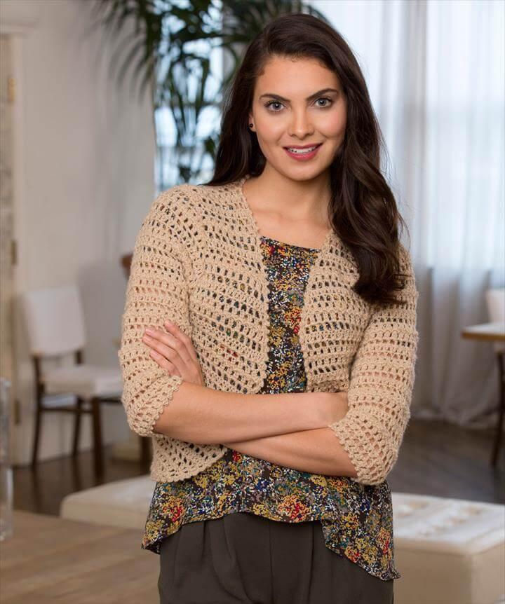 Open Crochet Bolero