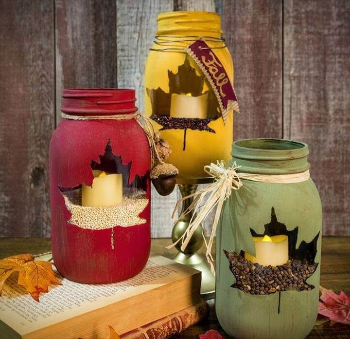 mason jar fall decor